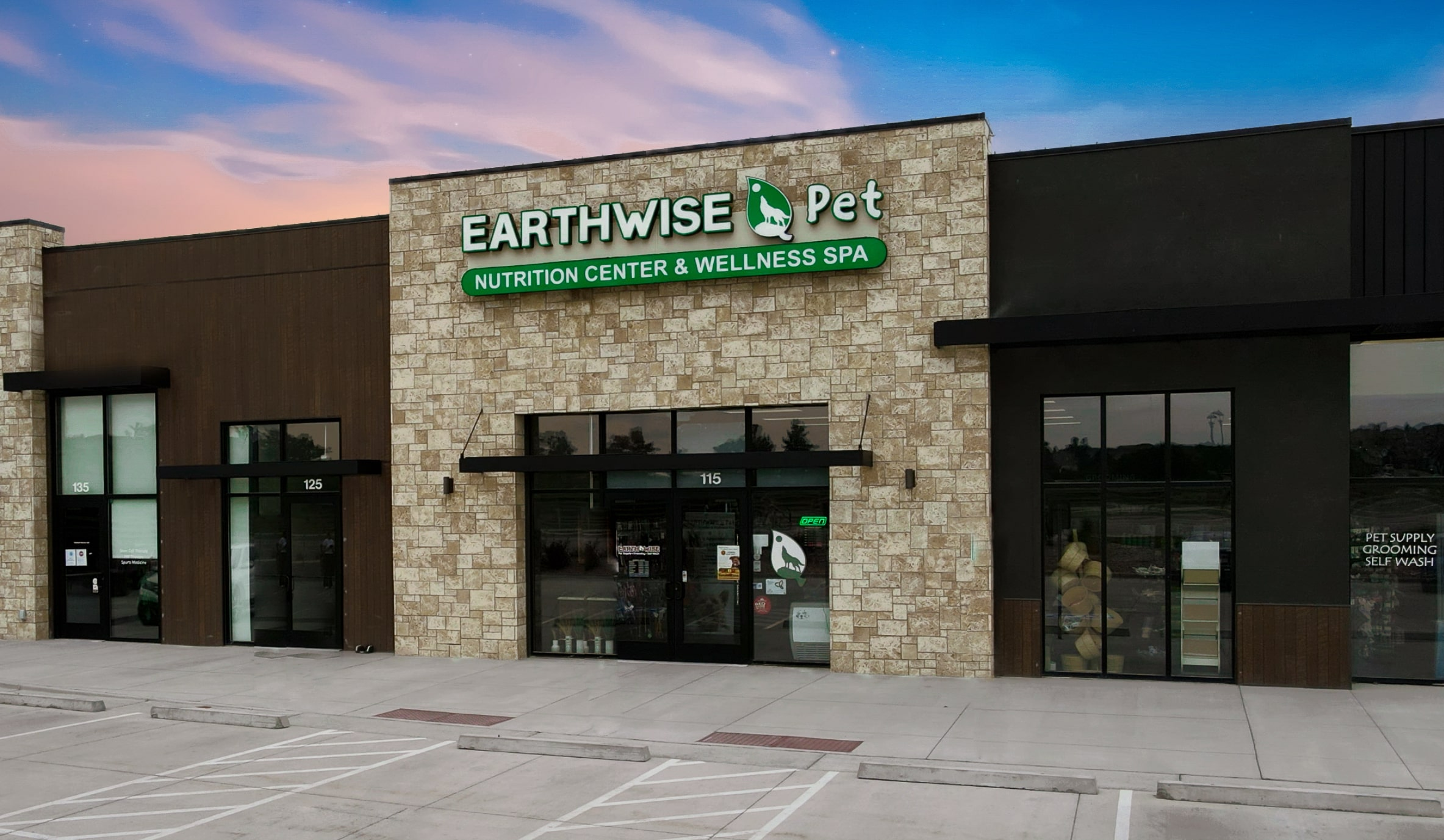The front of an How much do EarthWise Pet Franchise